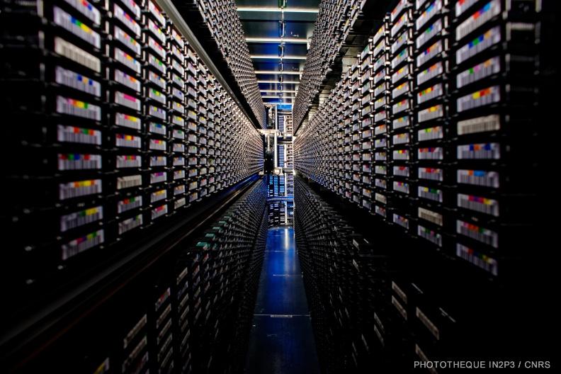 Intérieur de librairie de stockage à bandes magnétiques