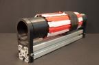 Maquette du détecteur à pixel IBL -- Maquette du détecteur à pixel IBL (Insertable B-Layer) d'ATLAS (CERN, Genève) entourant le tube à vide du faisceau. La maquette a été produite par l'imprimante 3D du LPNHE (2014).
