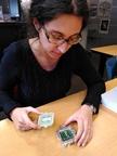 """Elisabeth Petit -- Elisabeth Petit est chercheuse dans l'équipe ATLAS.  """"Je suis impliquée dans la mise à jour des couches internes du détecteur ATLAS avec des collègues très motivés.""""  [tweet @CPPMLuminy 2020 - #WomenInScience #WomeninSTEM - à l'occasion de la journée internationale des femmes et des filles de science]"""