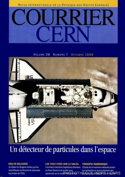 Le détecteur AMS sur la navette spatiale Discovery