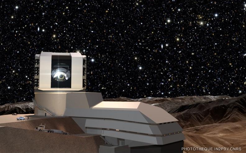 Vue d'artiste du Vera C. Rubin Observatory