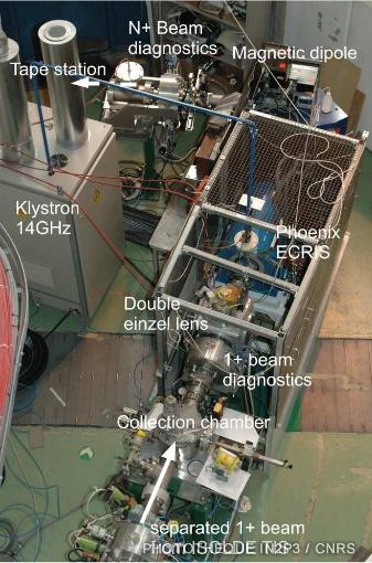 Accélérateur PHOENIX sur le banc de test à Isolde