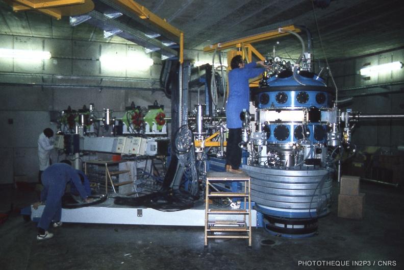 Vue du dispositif de la première expérience réalisée au GANIL.