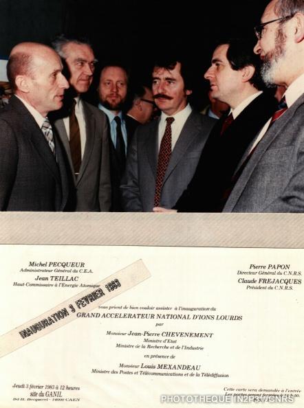 Inauguration du GANIL le 3 février 1983
