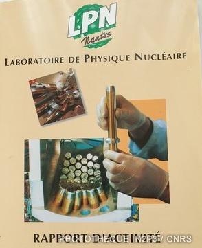 Page de couverture Rapport d'activité LPN ©Subatech