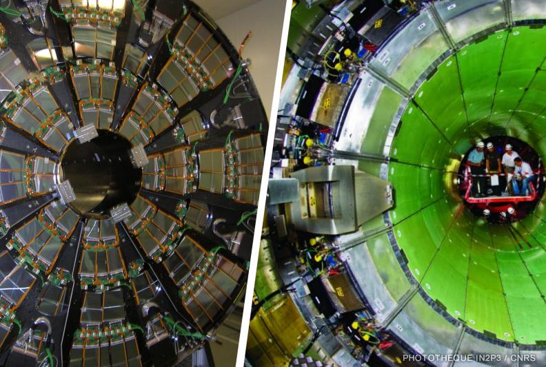 Trajectographe et calorimètre électromagnétique de CMS-LHC (IP2I)
