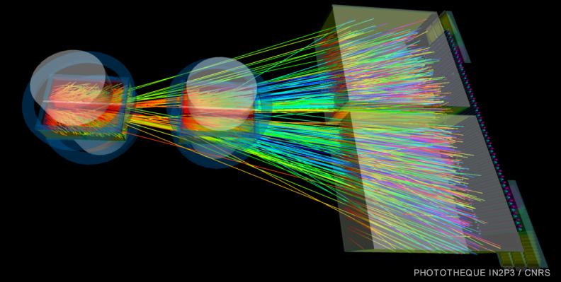 Visualisation d'un événement dans NA61