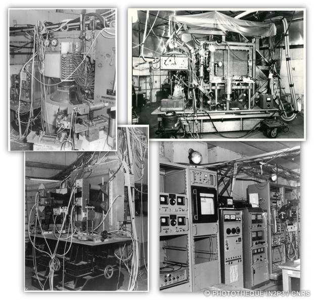 Les expériences et détecteurs des 60's